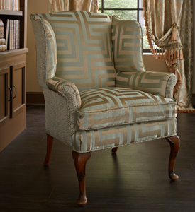 Reupholstery wing chair